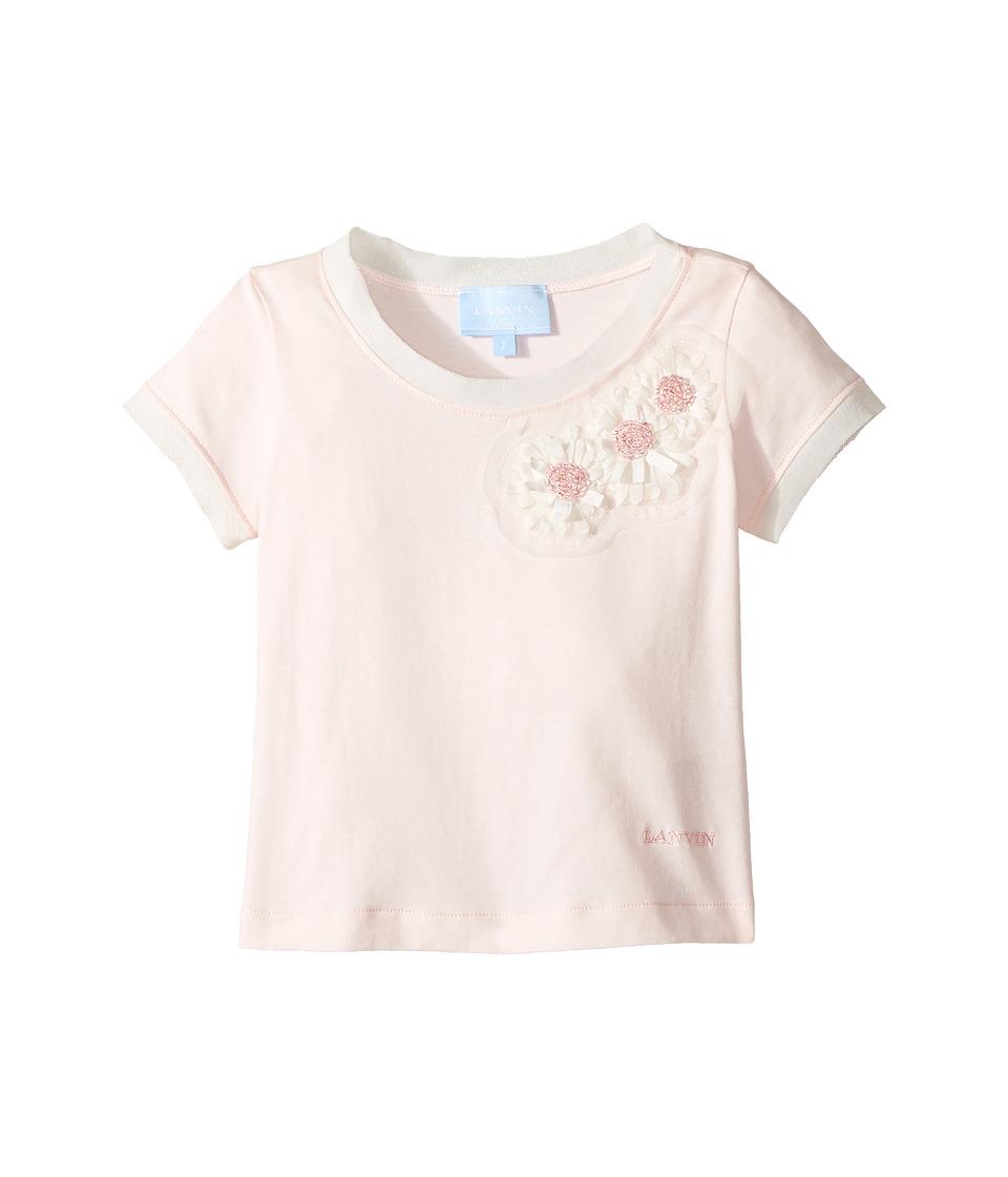 Lanvin Kids - Short Sleeve T-Shirt w/ Beaded Daisy Design On Front (Toddler/Little Kids) (Pink) Girl's T Shirt