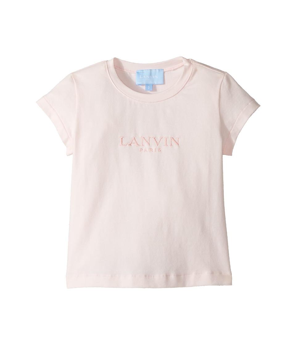 Lanvin Kids - Short Sleeve Logo T-Shirt (Toddler/Little Kids) (Light Pink) Girl's T Shirt