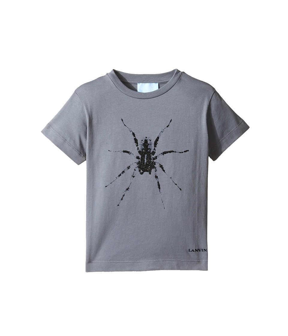 Lanvin Kids - Short Sleeve T-Shirt w/ Spider Design On Front (Toddler/Little Kids) (Dark Grey) Boy's T Shirt