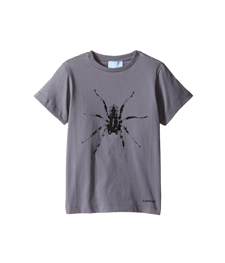 Lanvin Kids - Short Sleeve T-Shirt w/ Spider Design On Front (Little Kids/Big Kids) (Dark Grey) Boy's T Shirt