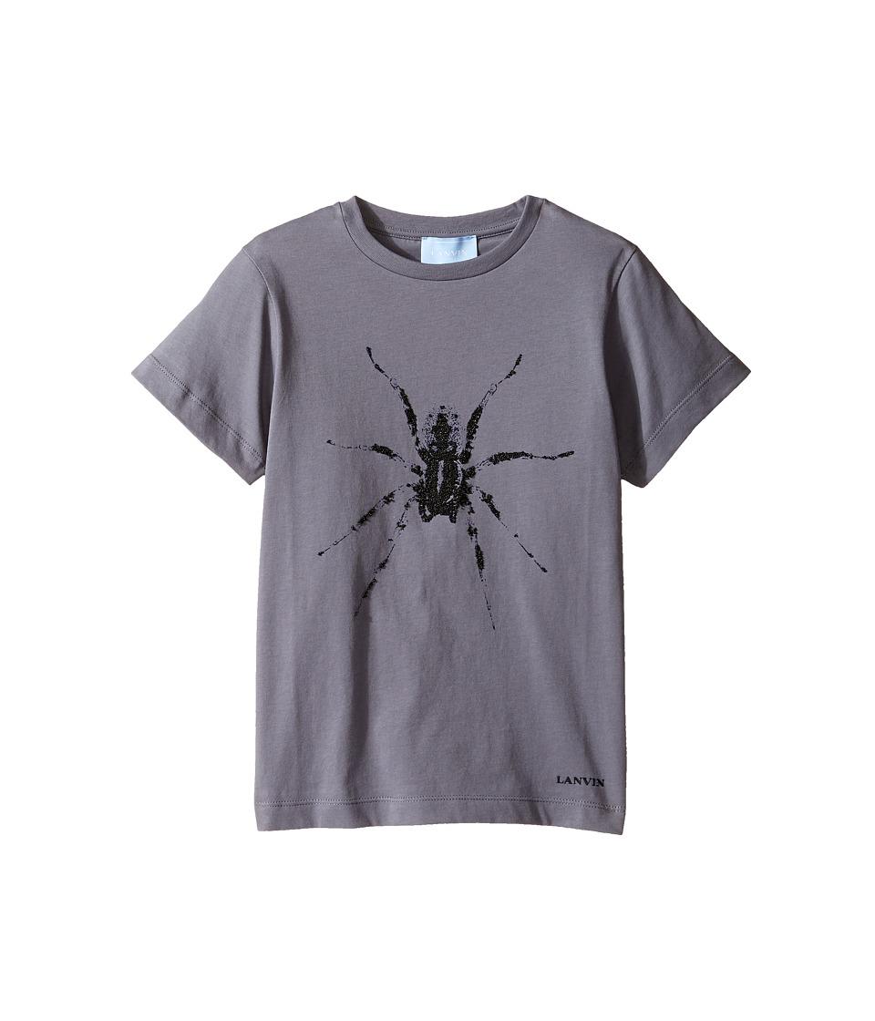 Lanvin Kids - Short Sleeve T-Shirt w/ Spider Design On Front (Little Kids/Big Kids) (Dark Grey) Boy's T Shirt