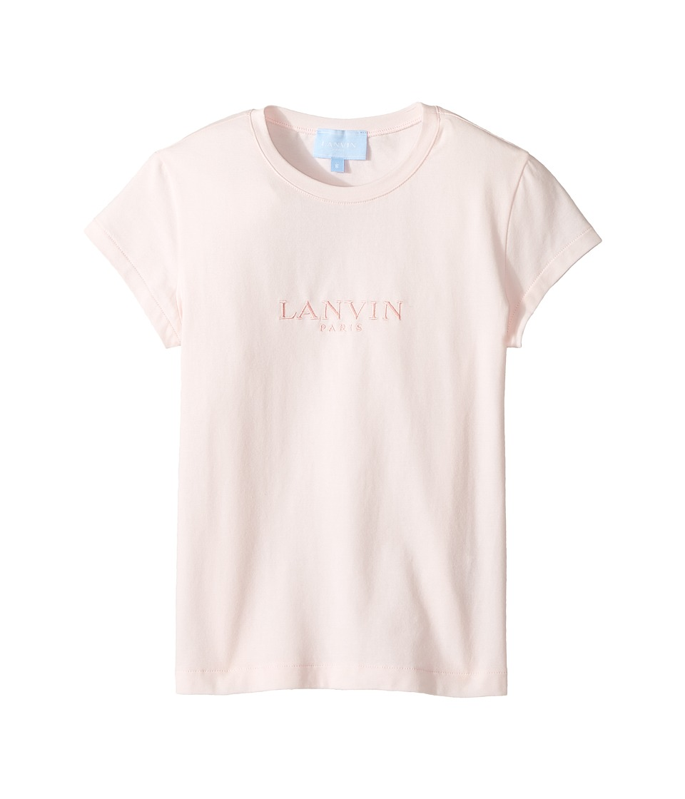Lanvin Kids - Short Sleeve Logo T-Shirt (Little Kids/Big Kids) (Light Pink) Girl's T Shirt