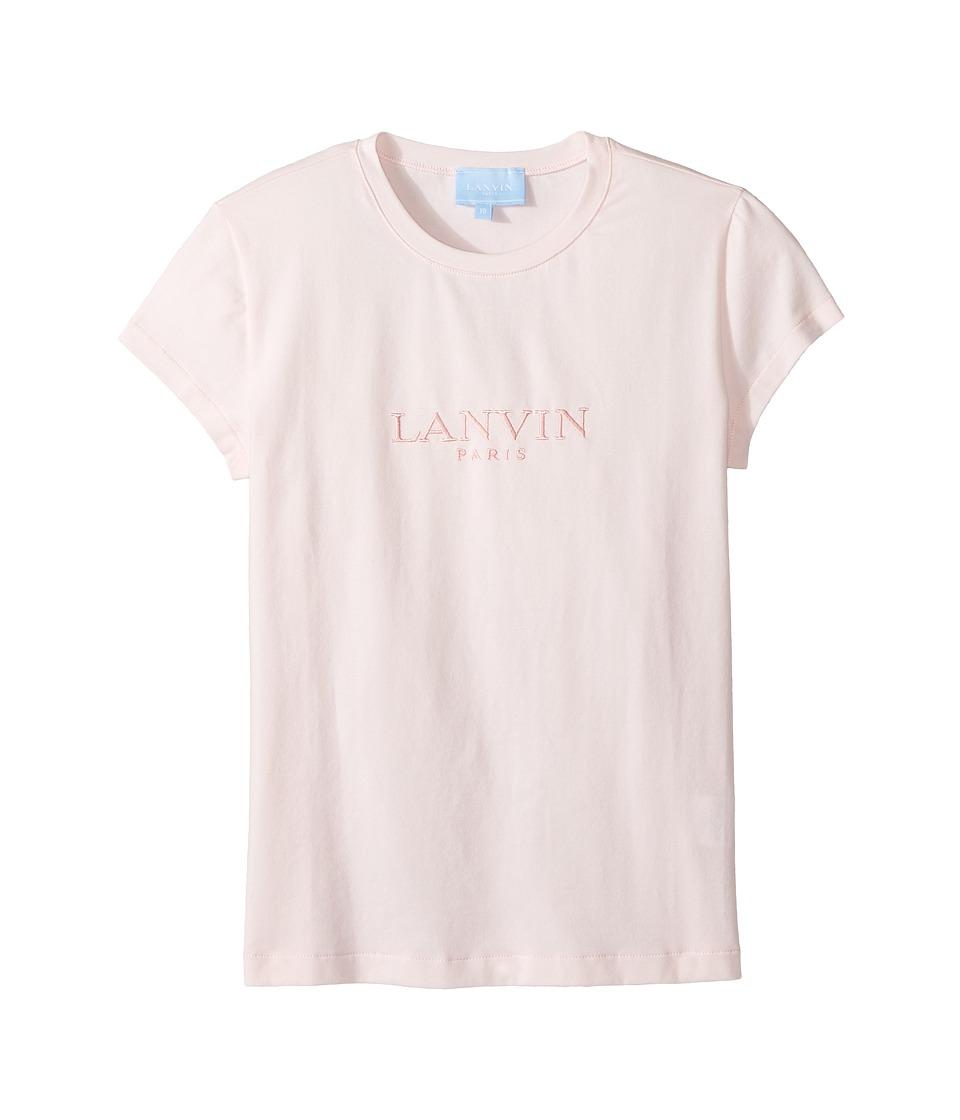 Lanvin Kids - Short Sleeve Logo T-Shirt (Big Kids) (Light Pink) Girl's T Shirt