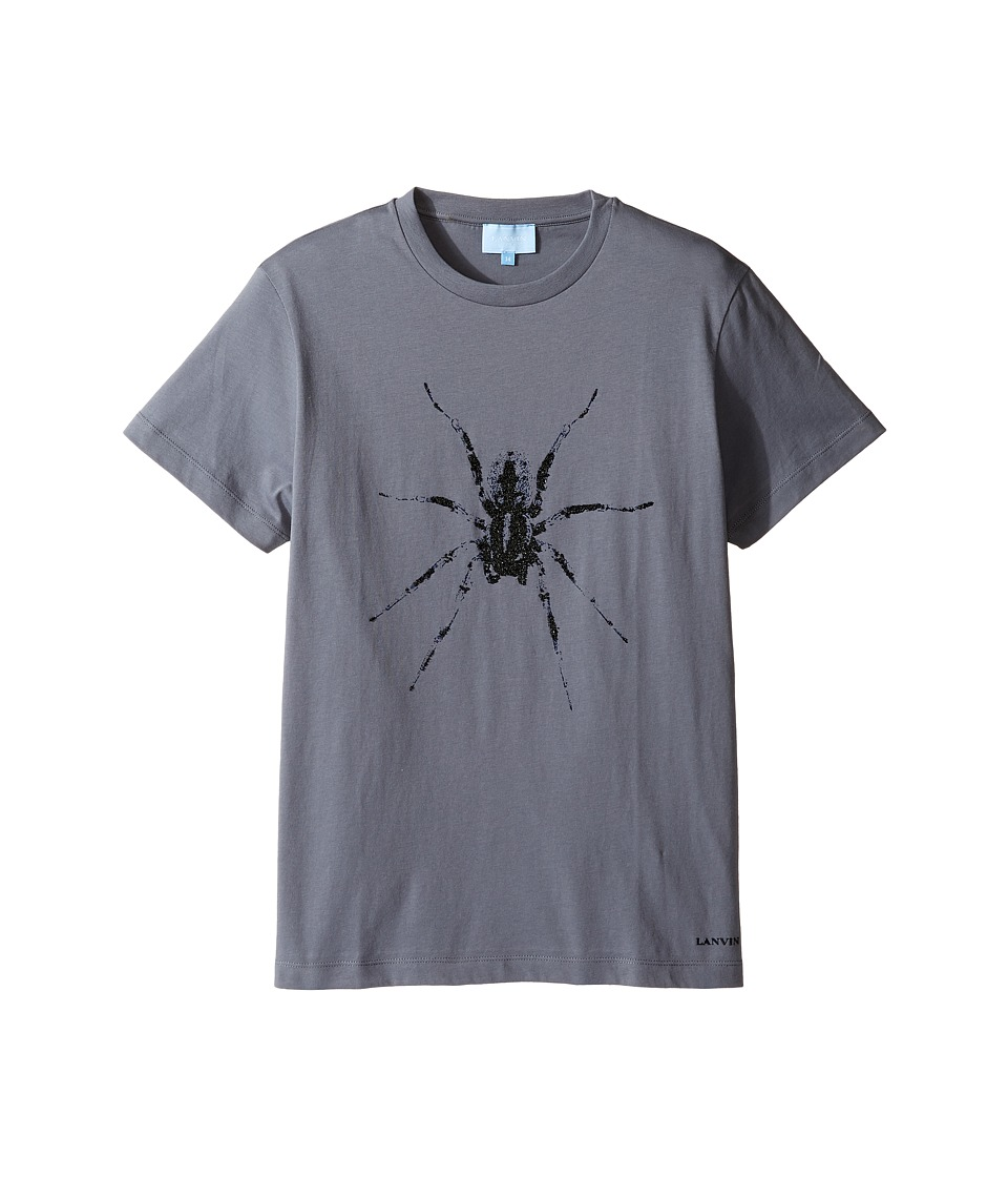 Lanvin Kids - Short Sleeve T-Shirt w/ Spider Design On Front (Big Kids) (Dark Grey) Boy's T Shirt