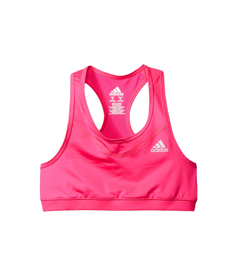 adidas Kids - Gym Bra (Big Kids) (Neon Pink) Girl's Bra