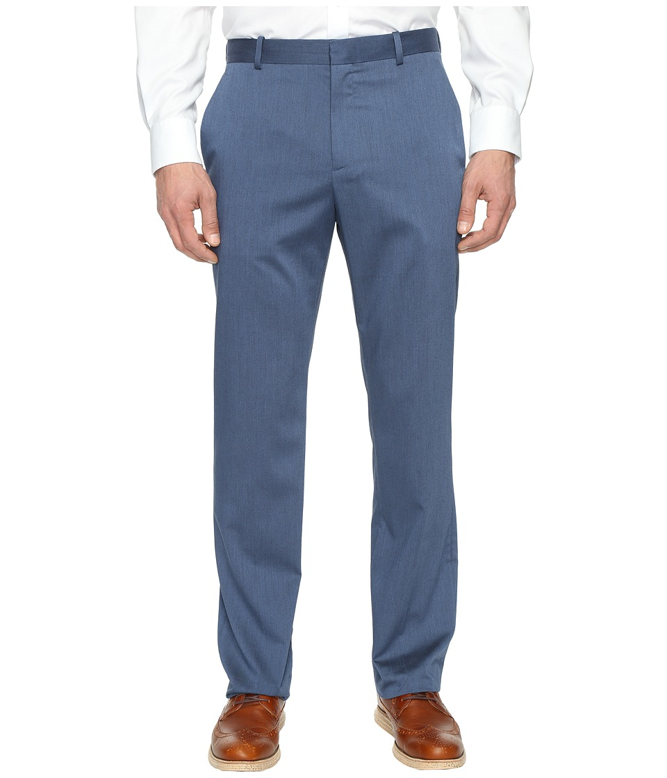 Perry Ellis - Regular Fit Stretch Heather Twill Dress Pants (Bay Blue) Men's Dress Pants