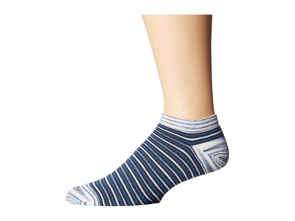 Missoni - No Show Socks (Blue) Men's No Show Socks Shoes
