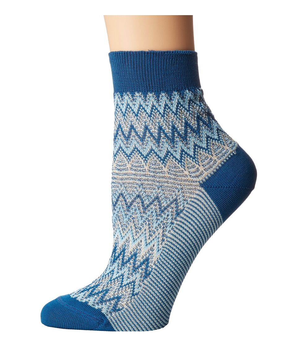 Missoni - Ankle Socks (Multi Blue) Women's Crew Cut Socks Shoes