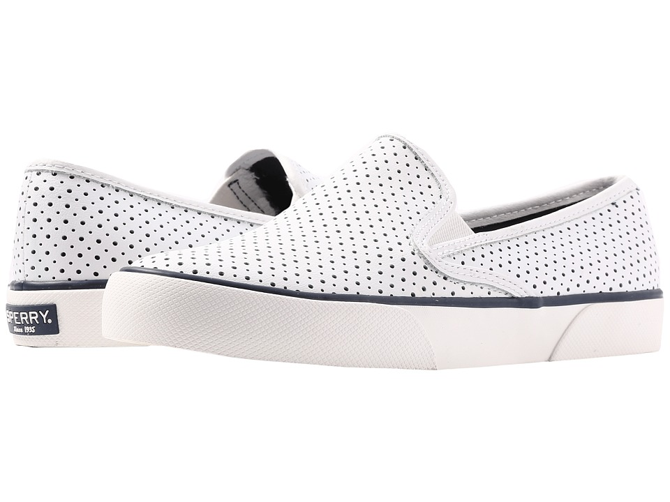 Sperry - Pier Side Leather (White) Women's Shoes