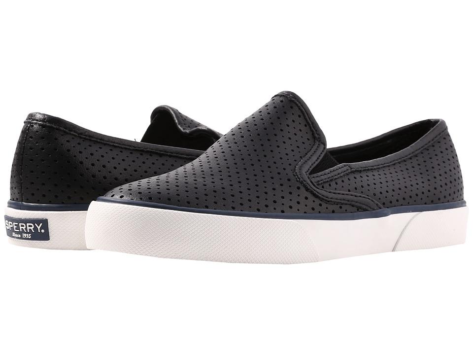 Sperry - Pier Side Leather (Black) Women's Shoes