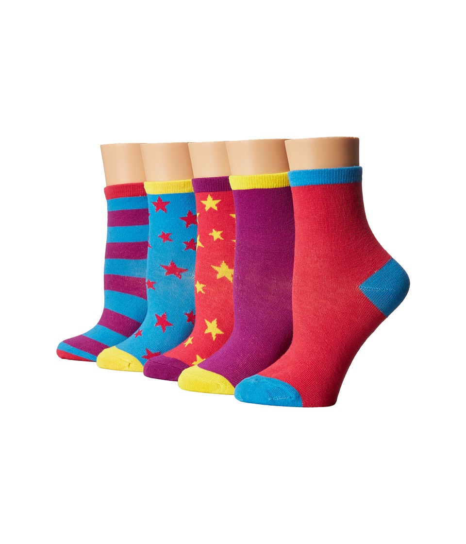 Steve Madden - 5-Pack Crews (Toddler/Little Kid/Big Kid) (Hot Pink) Women's Crew Cut Socks Shoes