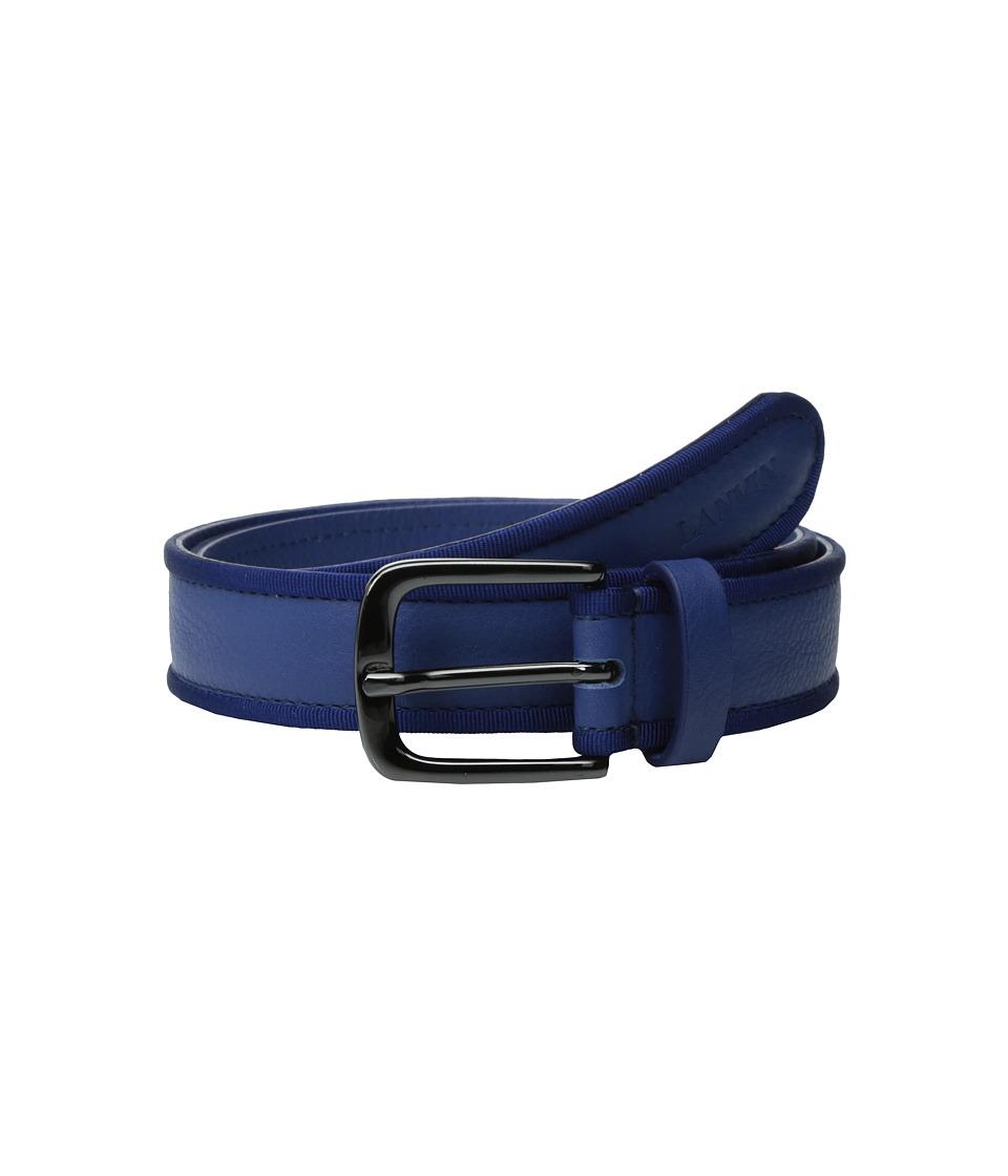 Lanvin Kids - Belt w/ Embossed Logo Detail (Toddler/Little Kids/Big Kids) (Blue/Royal Blue) Boy's Belts