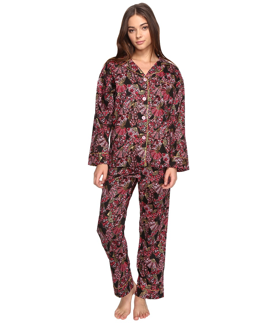 BedHead - Long Sleeve Classic Pajama Set (Fan Dance) Women's Pajama Sets