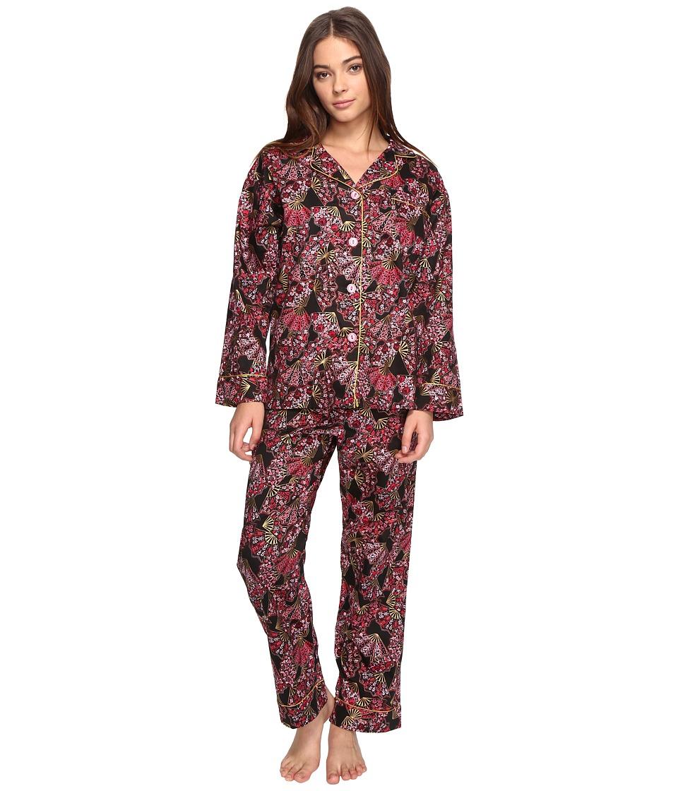 BedHead - Long Sleeve Classic Pajama Set (Fan Dance) Women's Pajama Sets