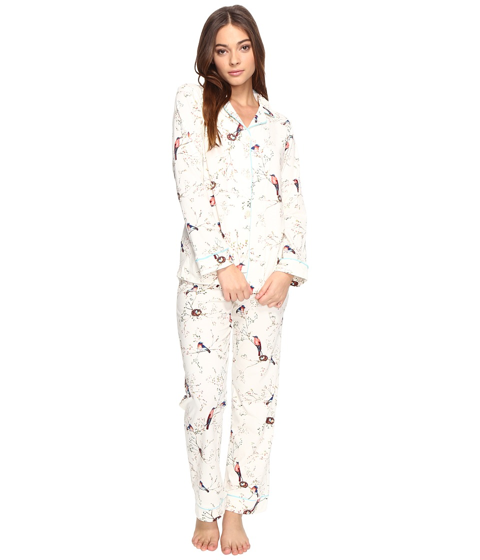 BedHead - Long Sleeve Classic Pajama Set (Bird's Nest) Women's Pajama Sets
