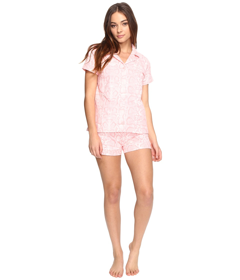 BedHead - Short Sleeve Classic Short Set (Pink Snake Charmer) Women's Pajama Sets