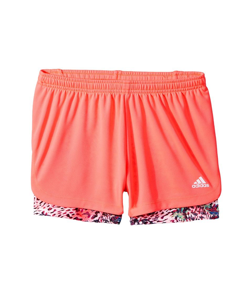 adidas Kids - Marathon Mesh Shorts (Big Kids) (Bright Red) Girl's Shorts