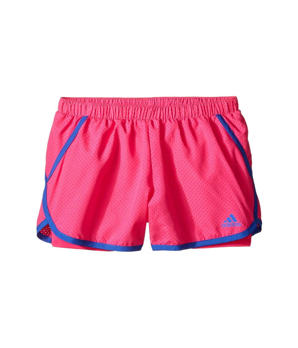 adidas Kids - Finish Line Woven Shorts (Big Kids) (Bright Red) Girl's Shorts
