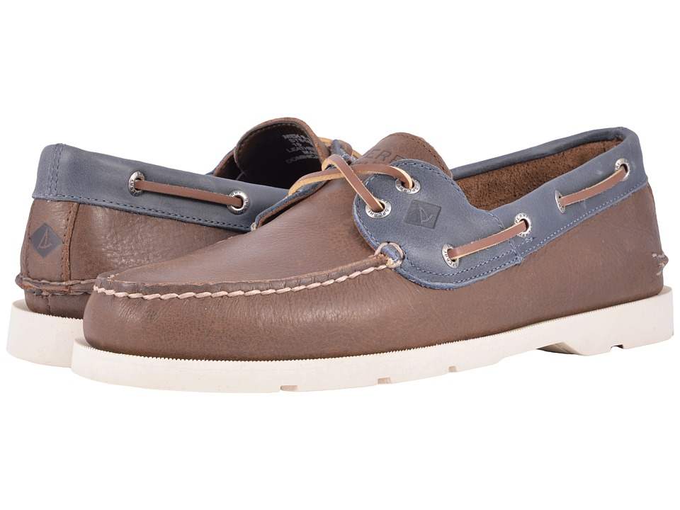 Sperry - Leeward 2-Eye Cross Lace (Brown/Navy) Men's Shoes