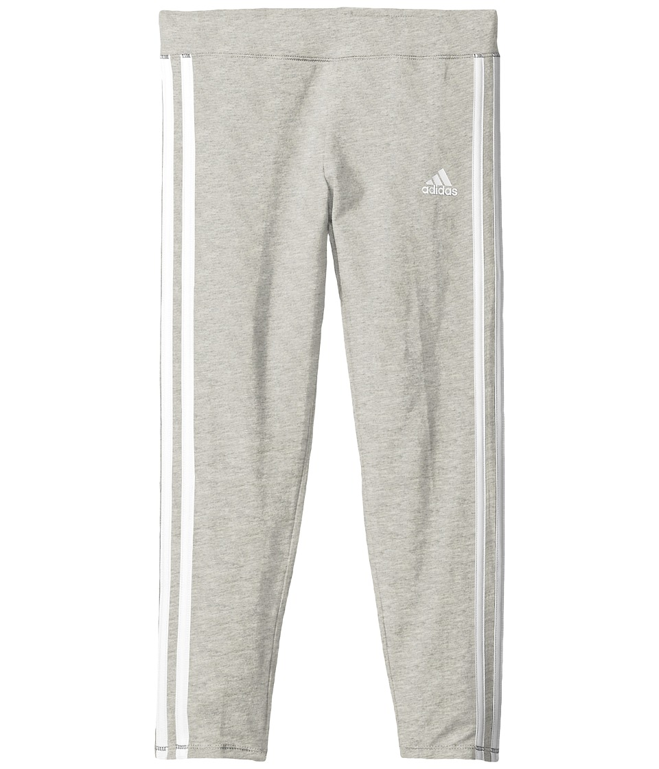 adidas Kids - 7/8 Length Tights (Big Kids) (Grey) Girl's Casual Pants