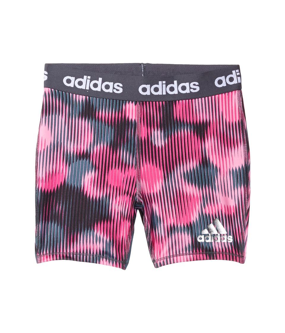 adidas Kids - Printed Short Tights (Big Kids) (Medium Pink) Girl's Casual Pants