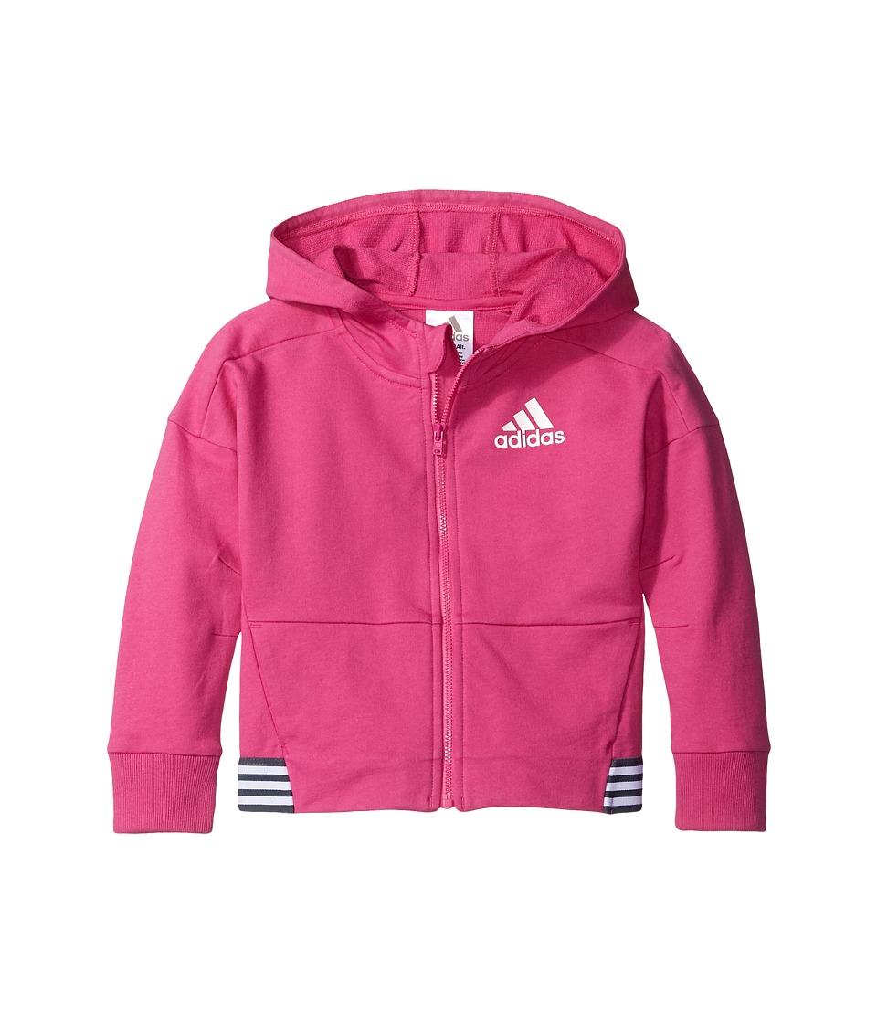 adidas Kids - Agility Jacket (Big Kids) (Medium Pink) Girl's Coat