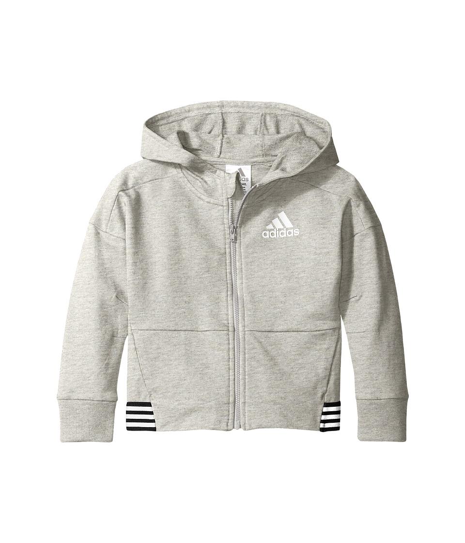 adidas Kids Agility Jacket (Big Kids) (Grey) Girl
