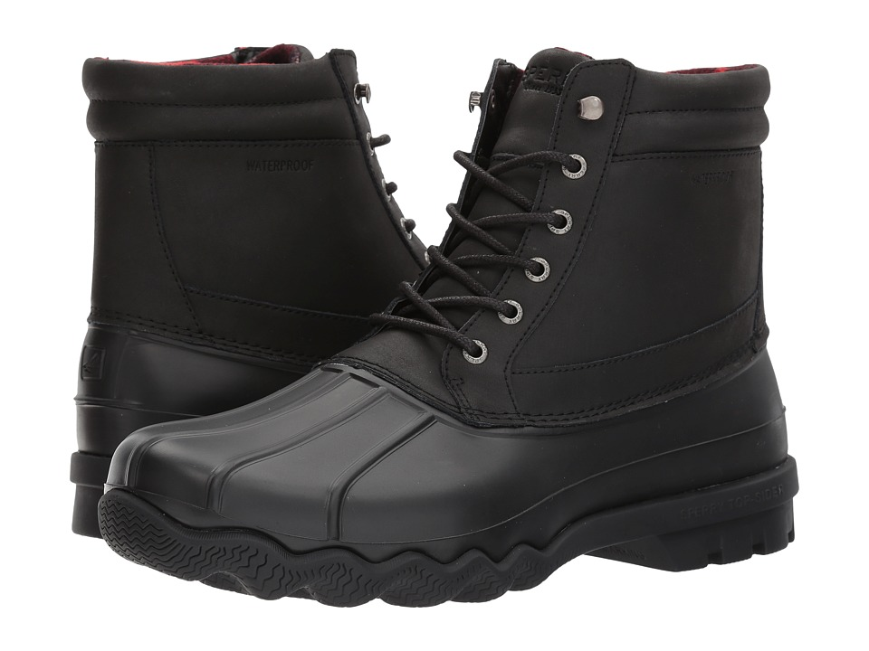 Sperry - Brewster Boot (Black/Black) Men's Shoes