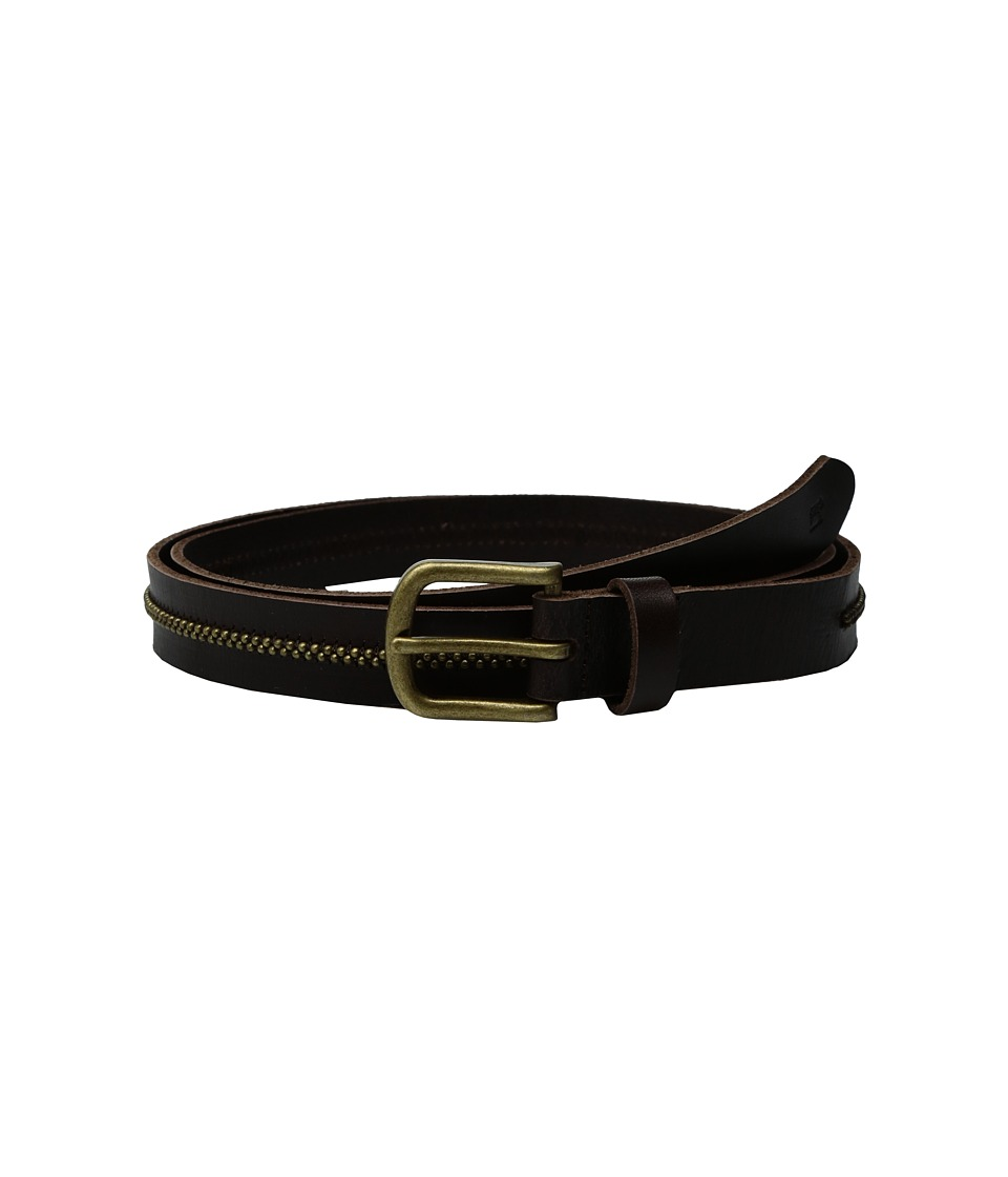 Scotch & Soda - Leather Belt w/ Embossed Buckle (Brown) Men's Belts