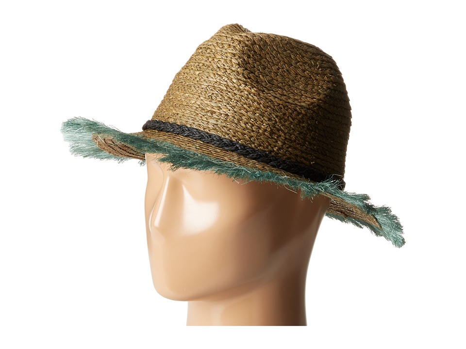 Scotch & Soda - Raffia Beach Hat w/ Embroidered Artwork (Combo B) Caps