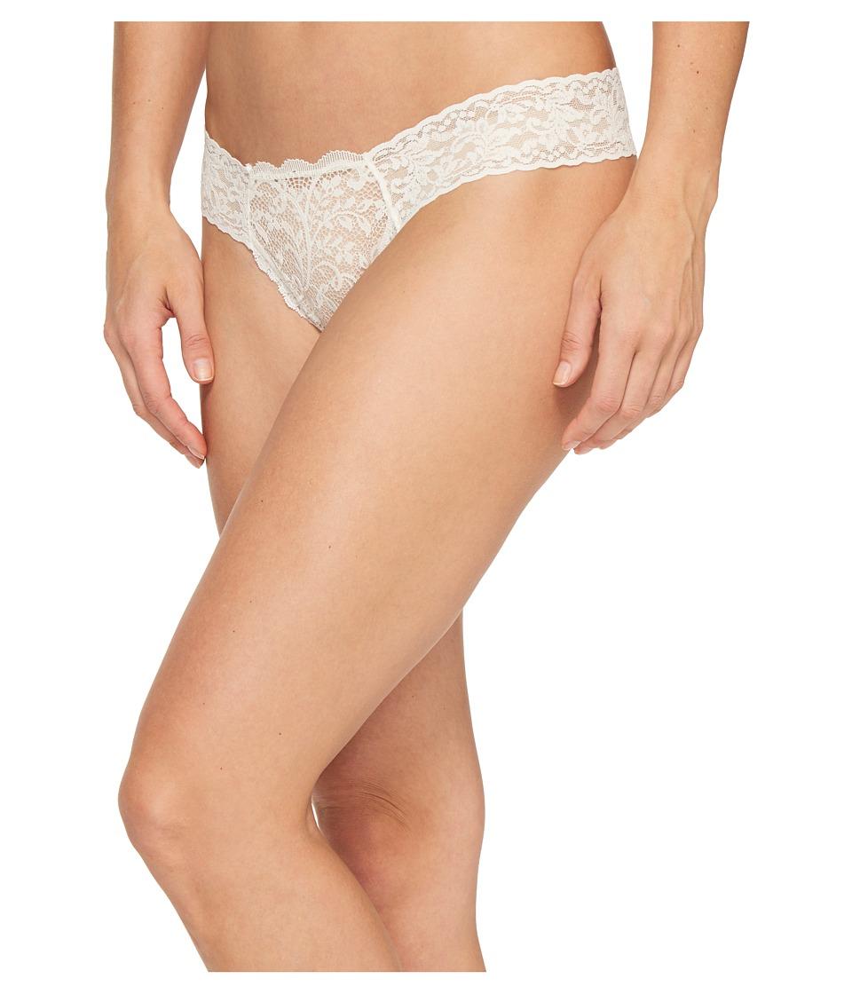 Hanky Panky - Queen Anne's Lace Diamond Low Rise Thong (Off-White) Women's Underwear
