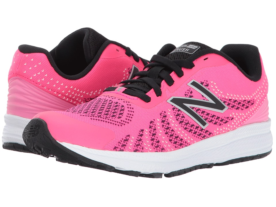 New Balance Kids Rush (Little Kid) (Pink/Black) Girls Shoes