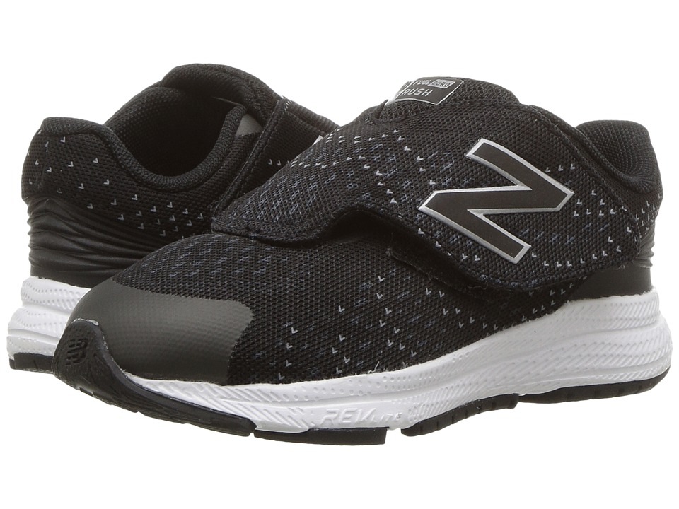 New Balance Kids Rush (Infant/Toddler) (Black/Grey) Boys Shoes