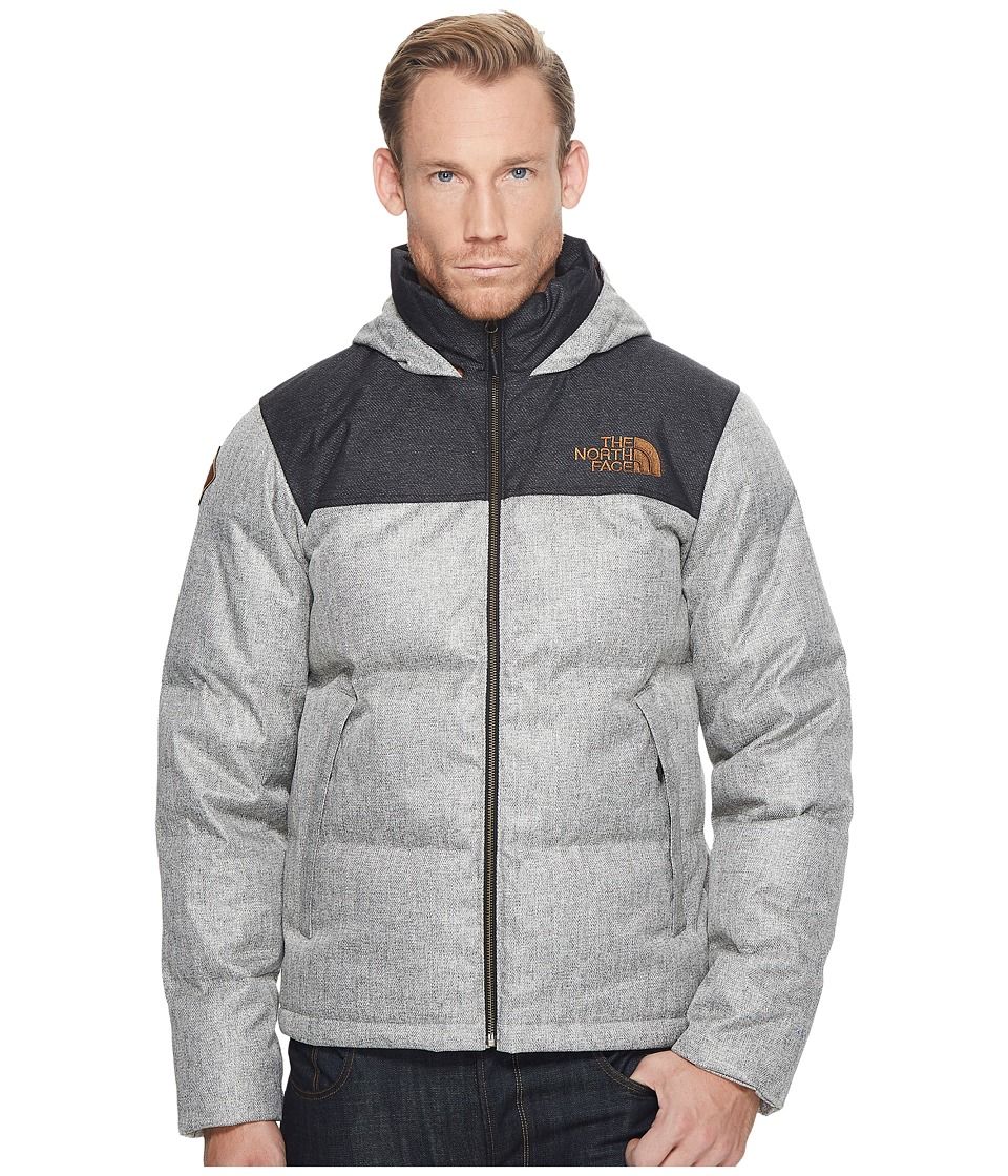 The North Face Novelty Nuptse Jacket (Monument Grey Herringbone/TNF Black Dobby) Men