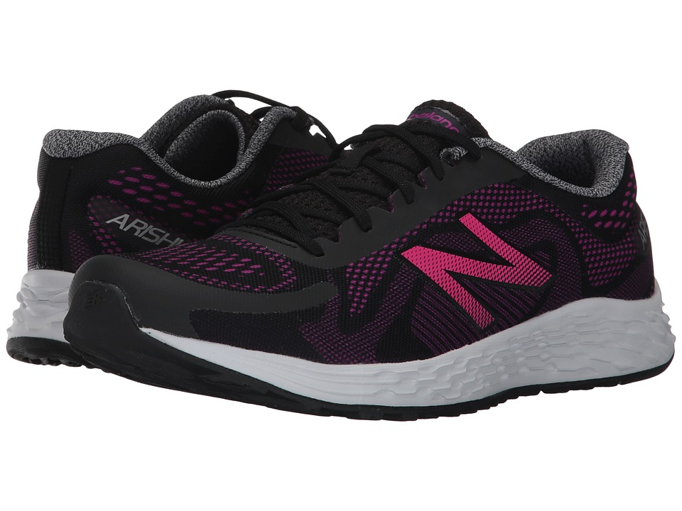 New Balance Kids Arishi (Little Kid/Big Kid) (Black/Purple) Girls Shoes