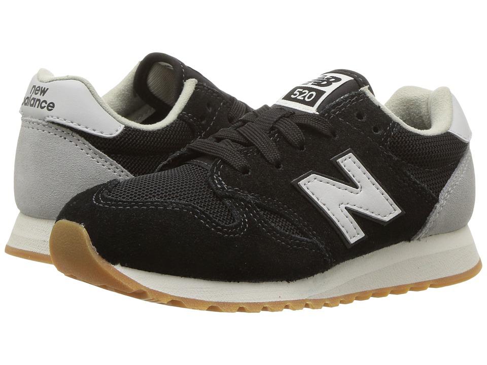 New Balance Kids KL520v1 (Little Kid/Big Kid) (Black/White) Boys Shoes