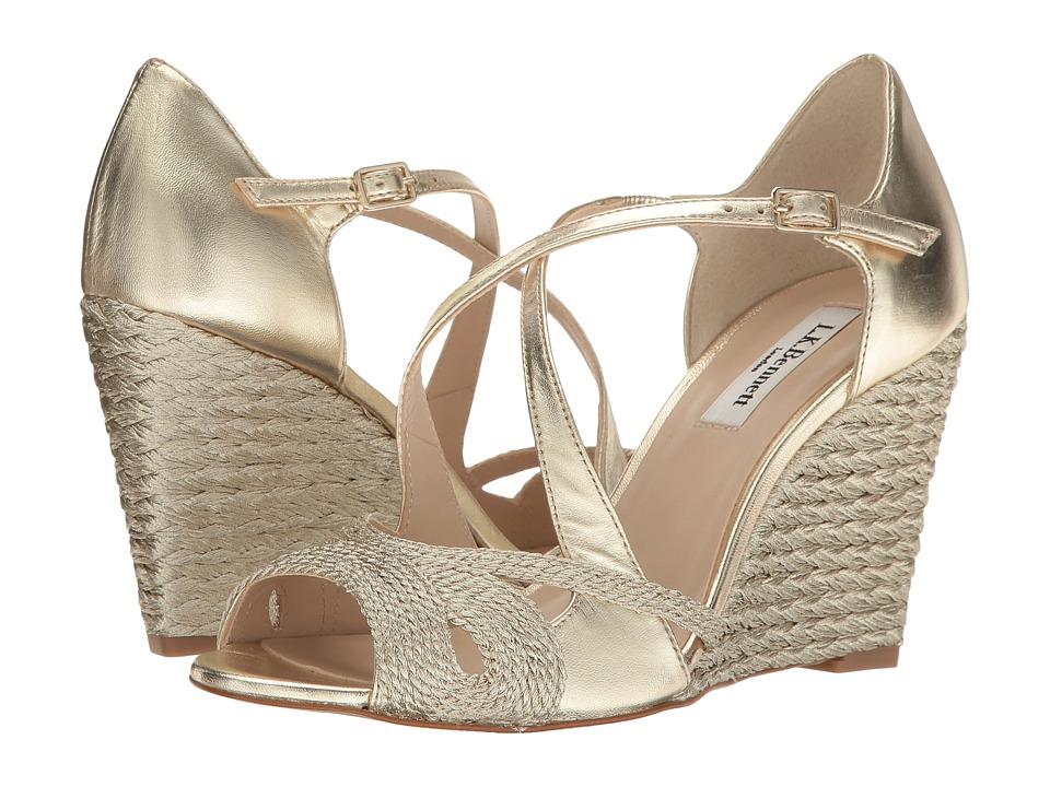 L.K. Bennett - Juliette (Soft Gold Rope Lurex) Women's Wedge Shoes