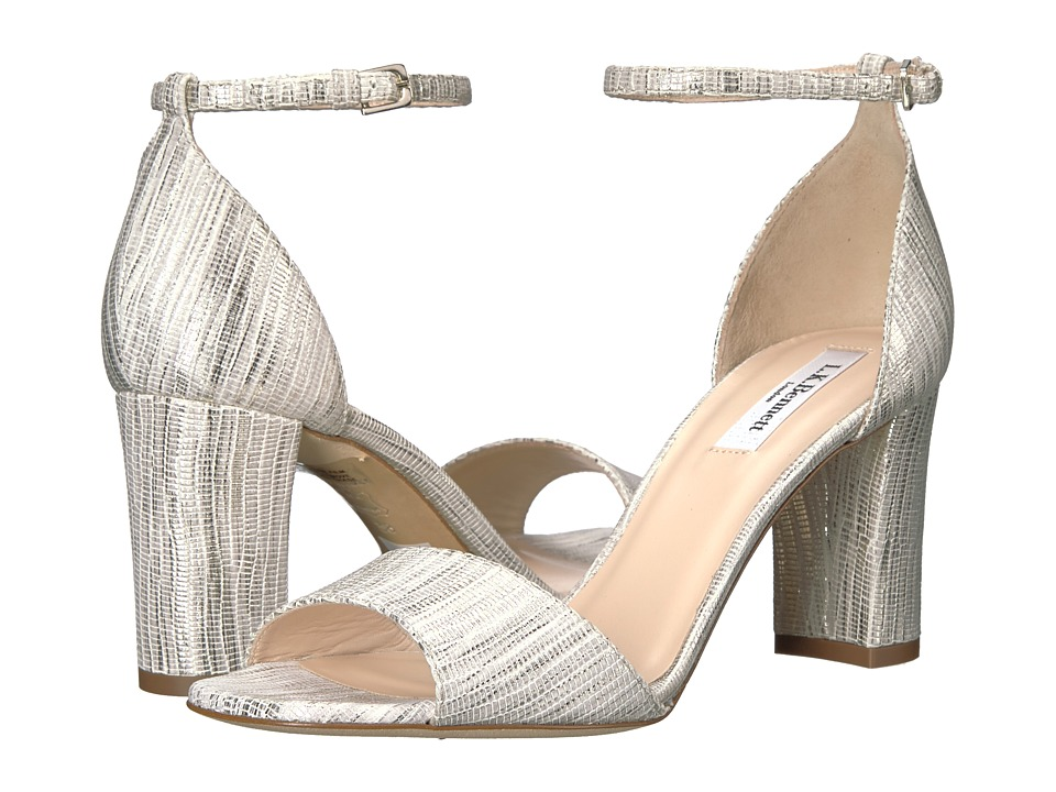 L.K. Bennett - Helena (Cream Striped Metallic Lizard) High Heels