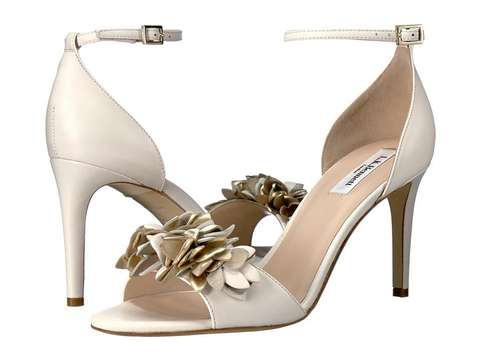 L.K. Bennett - Claudie (Cream/Gold Nappa) Women's 1-2 inch heel Shoes