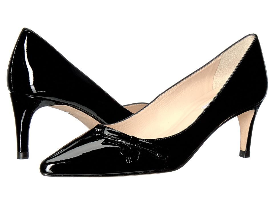 L.K. Bennett - Berenice (Black Patent) Women's 1-2 inch heel Shoes