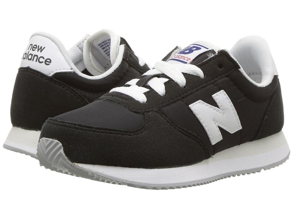 New Balance Kids KL220v1 (Little Kid/Big Kid) (Black/White) Boys Shoes