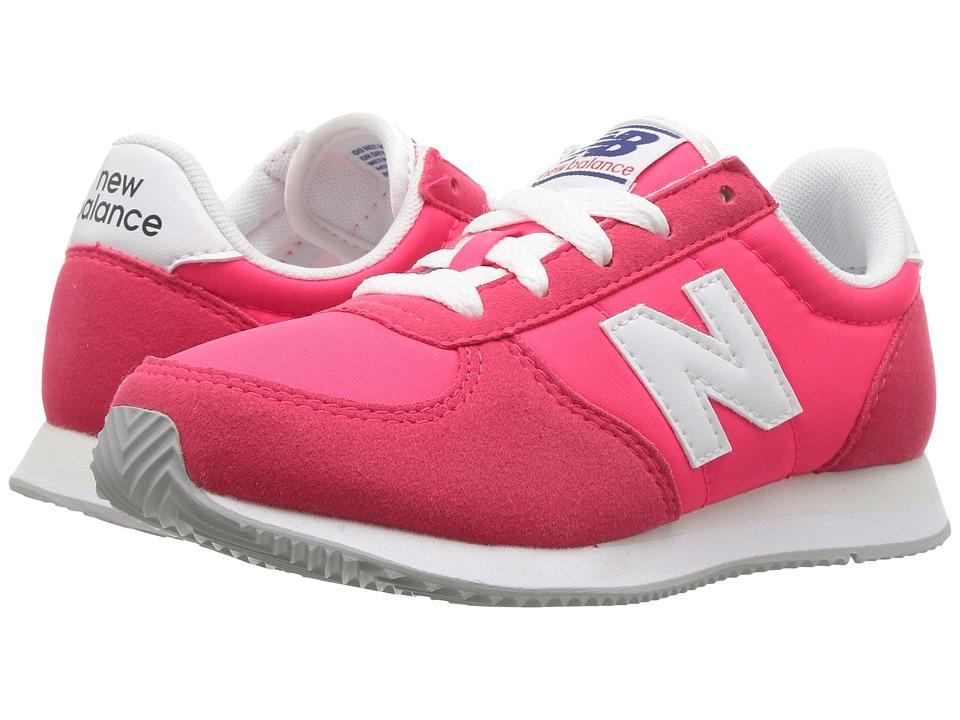 New Balance Kids KL220v1 (Little Kid/Big Kid) (Pink/White) Girls Shoes