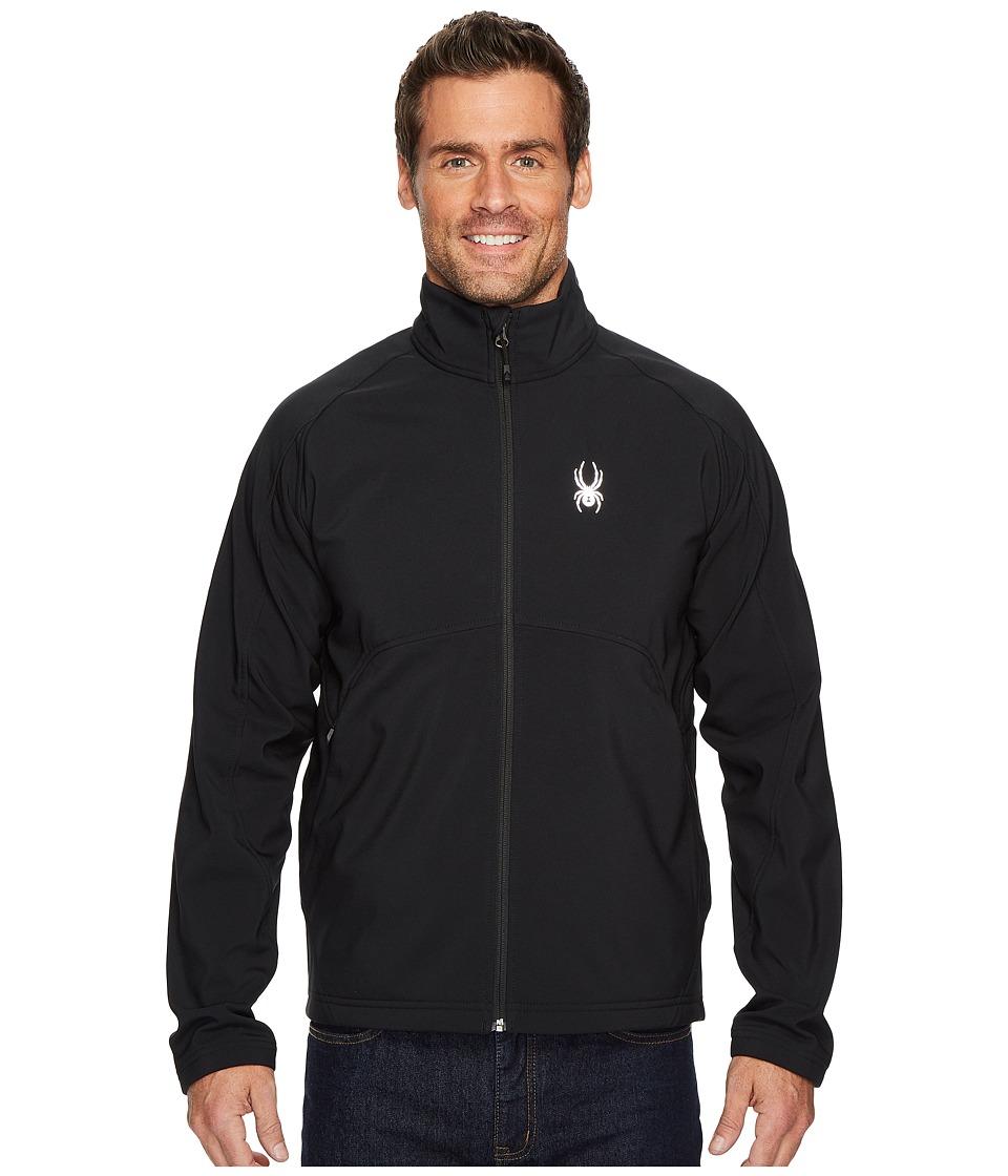 Spyder Fresh Air Softshell Jacket (Black/Black) Men