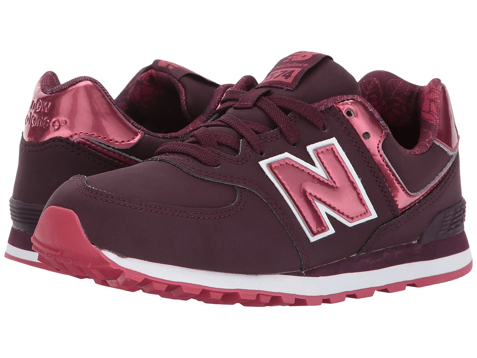 New Balance Kids KL574v1 (Big Kid) (Dark Pink/Red) Girls Shoes