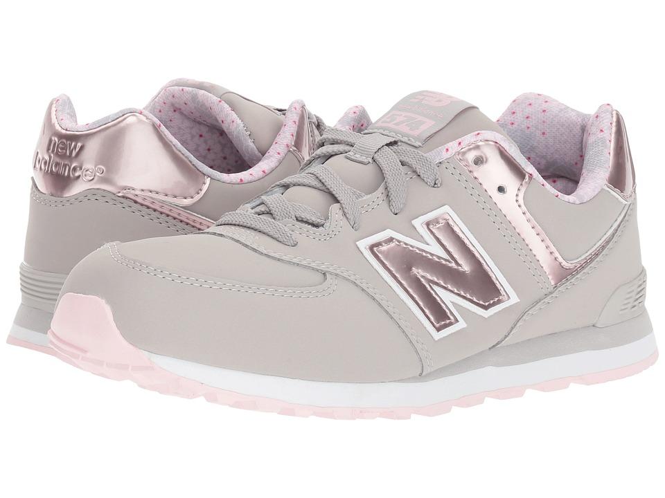 New Balance Kids KL574v1 (Big Kid) (Pink/Grey) Girls Shoes