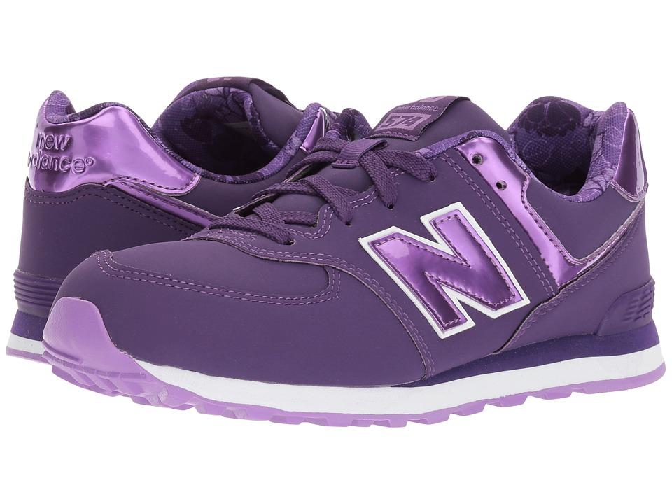 New Balance Kids KL574v1 (Big Kid) (Purple/Lilac) Girls Shoes