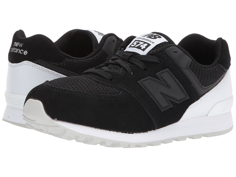 New Balance Kids KL574v1 (Big Kid) (Black/White) Boys Shoes