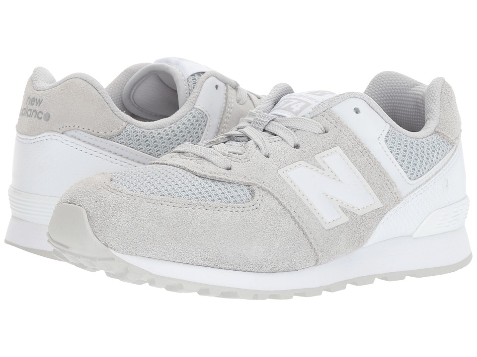 New Balance Kids KL574v1 (Big Kid) (Grey/White) Kids Shoes