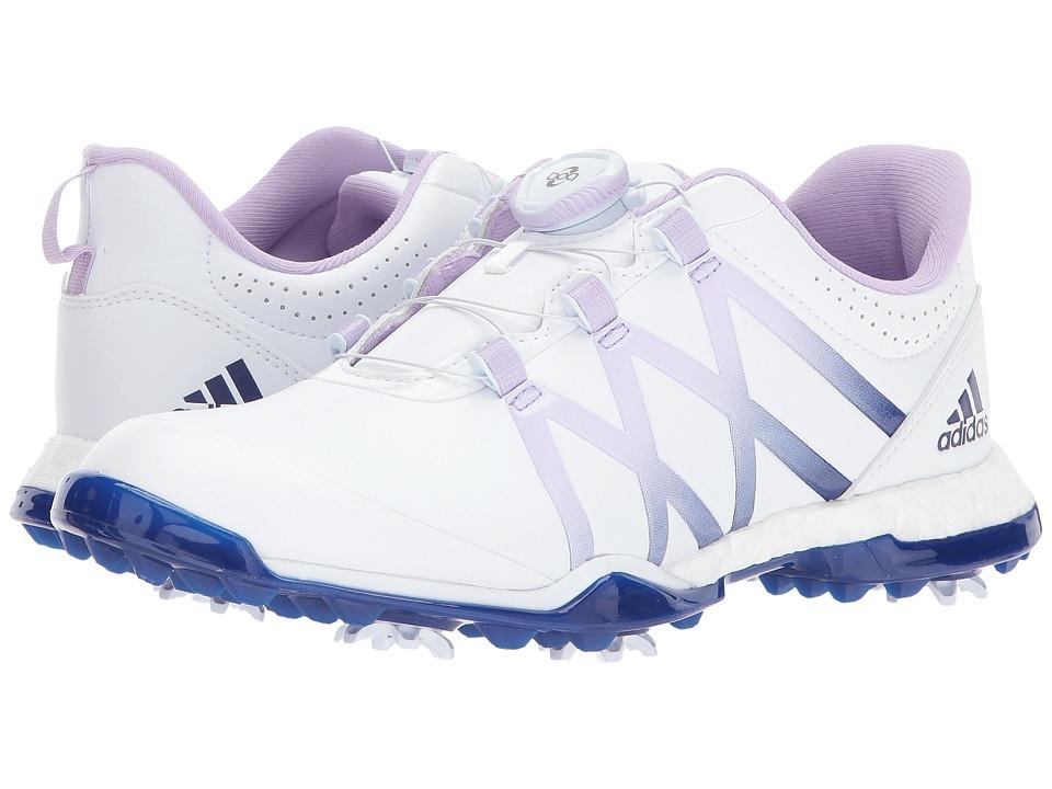 adidas Golf adiPower Boost Boa (Footwear White/Purple Glow/Mystery Ink) Women
