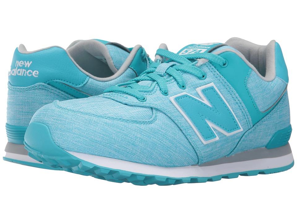 New Balance Kids KL574v1 (Big Kid) (Teal/White 2) Girls Shoes